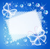 Magic background with butterfly openwork napkin and a place for text or photo