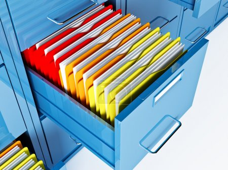 Photo for Fine 3d image of file cabinet folder - Royalty Free Image