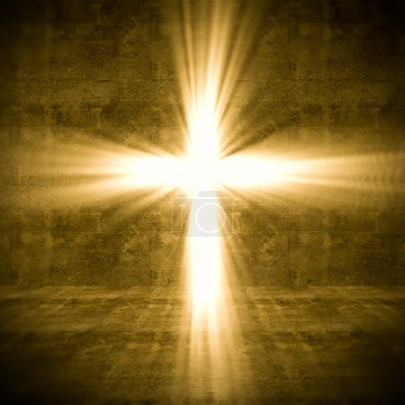 Photo for 3d image of cross of light - Royalty Free Image