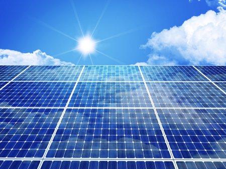 Foto de 3d imagen del panel solar clásico - Imagen libre de derechos