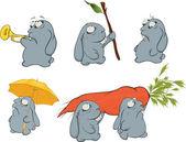Clip art About a blue rabbits Cartoon
