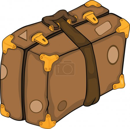 Illustration for Old suitcase Cartoon bag tourism travel - Royalty Free Image