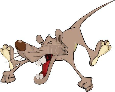 Squealing rat Cartoon mouse rodent...
