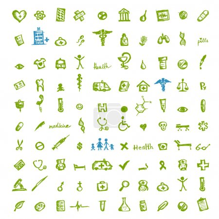 Illustration for Medical icons for your design - Royalty Free Image