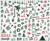 Christmas icons sketch drawing for your design