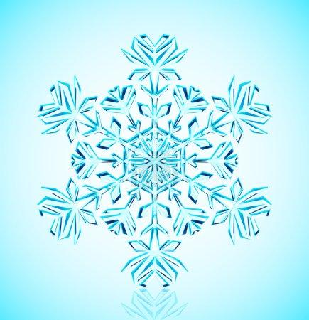 Foto de Ilustración del copo de nieve de cristal detallada - Imagen libre de derechos