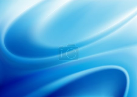 Illustration for Vector illustration of blue abstract background made of light splashes and curved lines - Royalty Free Image