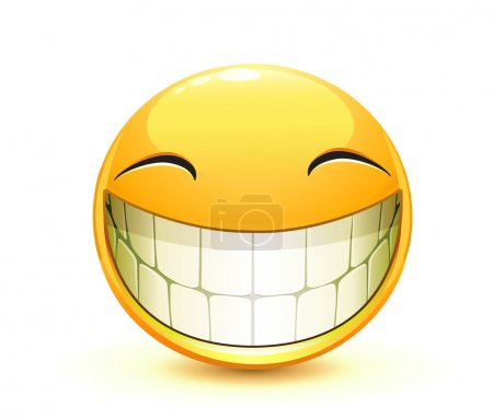 Illustration for Vector illustration of cool glossy Single Emoticon - Royalty Free Image