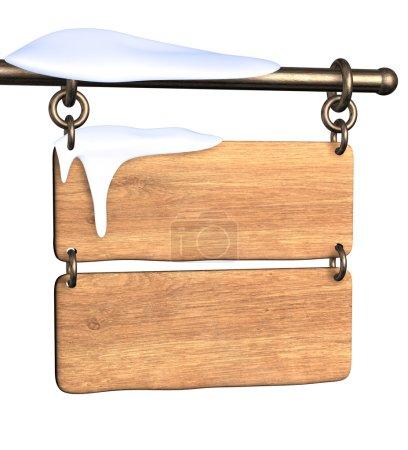 Photo pour Panneau en bois. objet isolé sur blanc - image libre de droit