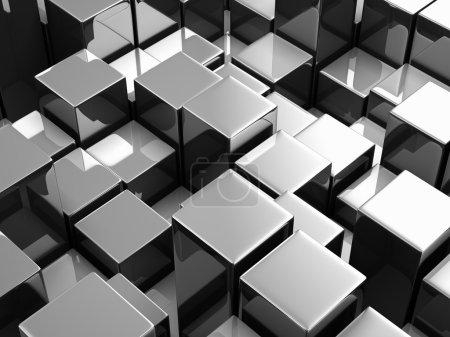 Photo pour Fond abstrait de cubes métalliques - image libre de droit