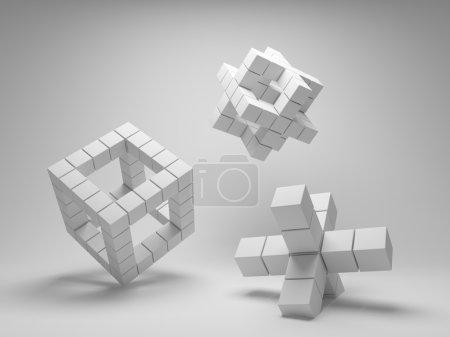 Design abstrakte Geometrie der Würfel