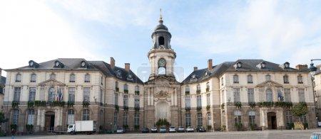 Panarama of the hotel de ville de Rennes, France