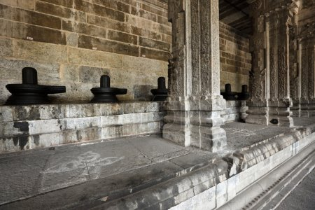 lingams et colonnes dans le temple hindou