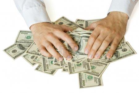 Greedy hands grabbing money