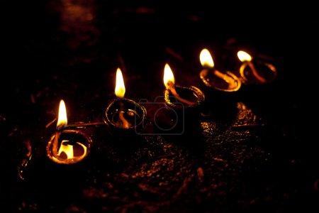 Photo pour Lumières Diwali. Inde - image libre de droit