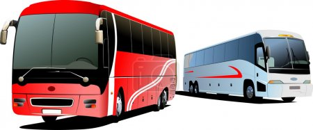 Tourist coach. Vector illustration