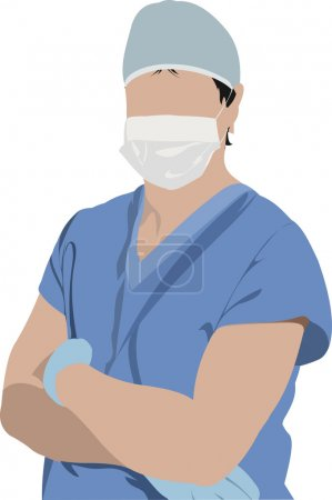 Medical doctor. Surgeon. Vector illustration
