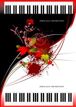 Illustration pour Couverture de la brochure avec deux pianos. Vector - image libre de droit