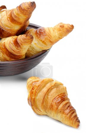 Photo for Croissants isolated on white - Royalty Free Image