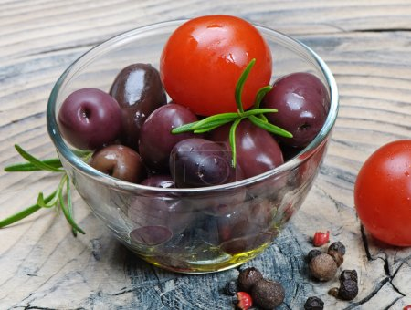 Olives ,tomatoes