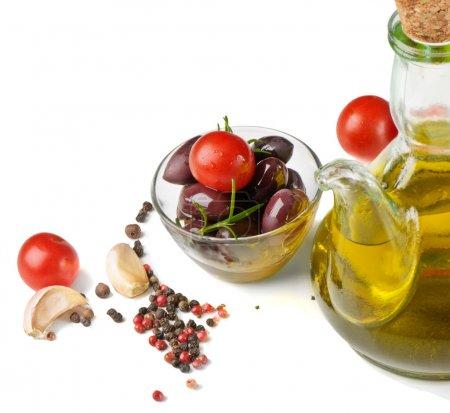 Photo pour Huile d'olive et tomates - image libre de droit