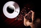 Káva a pytlovina pytel