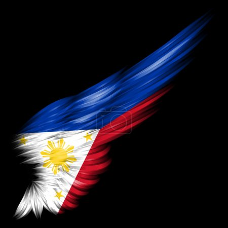 Flag of the Philippines on wing
