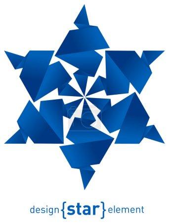 Foto de El copo de nieve de origami de papel sobre fondo blanco - Imagen libre de derechos