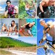 Sports lifestyle concept. Active happy outdoor...