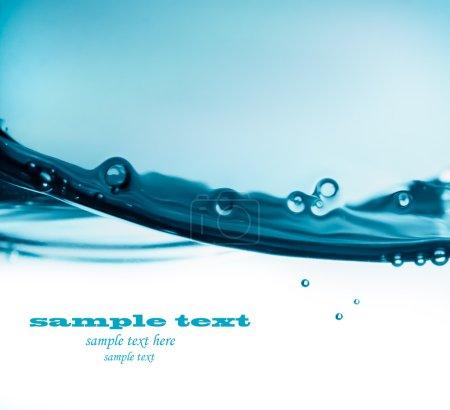 Photo pour Vague d'eau bleue - image libre de droit