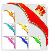 Set ribbon angular with gold crown