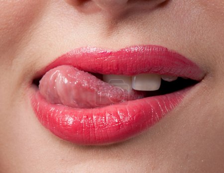 Photo for Close-up portrait of sexy, sensual, seductive lips - Royalty Free Image