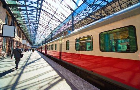 Railway station in Helsinki Finland