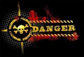 Black Urban Grunge Danger Skull