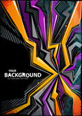Cool abstract graffiti background Vector illustration