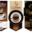 Three coffee design templates. Vector banners. All...