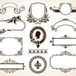 Vector set of calligraphic design elements....