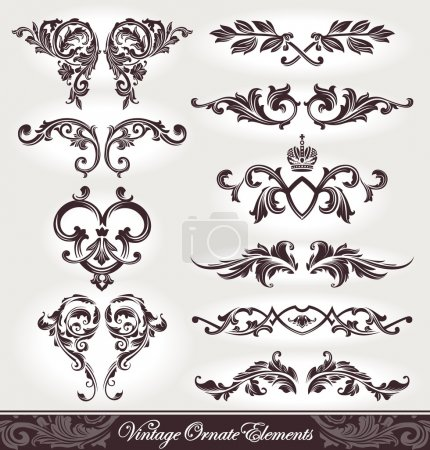 Illustration for Vector set of calligraphic design elements. - Royalty Free Image