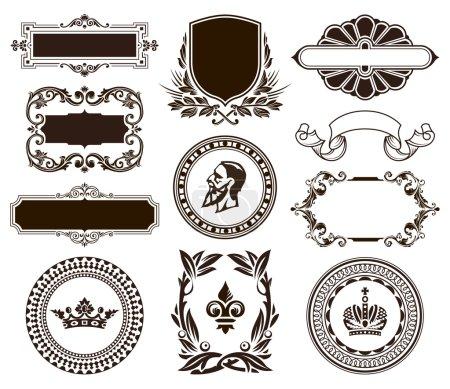 Photo pour Jeu vectoriel d'éléments de conception calligraphique. - image libre de droit