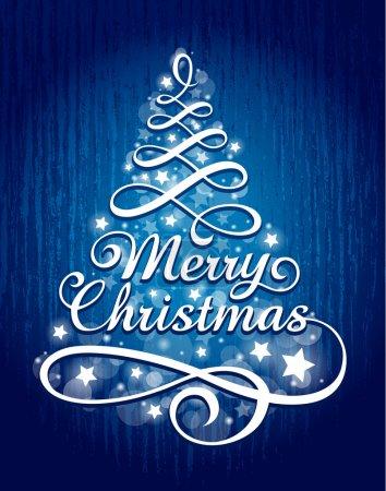 Illustration pour Lettrage de Noël calligraphique. Illustration vectorielle . - image libre de droit