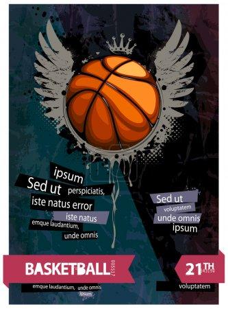 Grunge basketball illustration