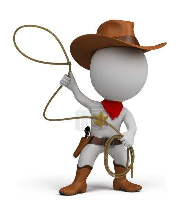 3d small - cowboy