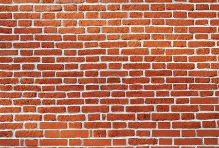 Photo pour Mur de brique rouge vieilli vieilli arrière-plan vintage - image libre de droit