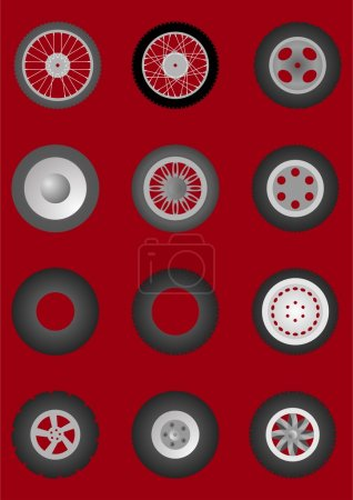 Wheels with tires.