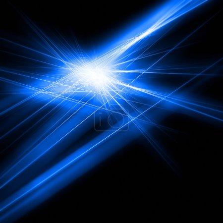 Bright blue light