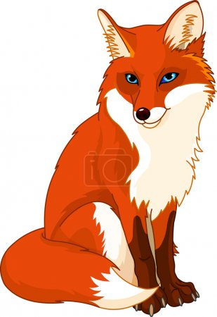 Illustration for Illustration of very cute fox - Royalty Free Image
