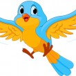 Illustration of happy Flying bird...
