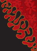 Vertical red and black background