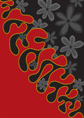 Vertical black and red background
