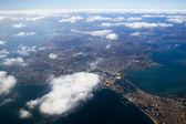 Pohled shora na město istanbul